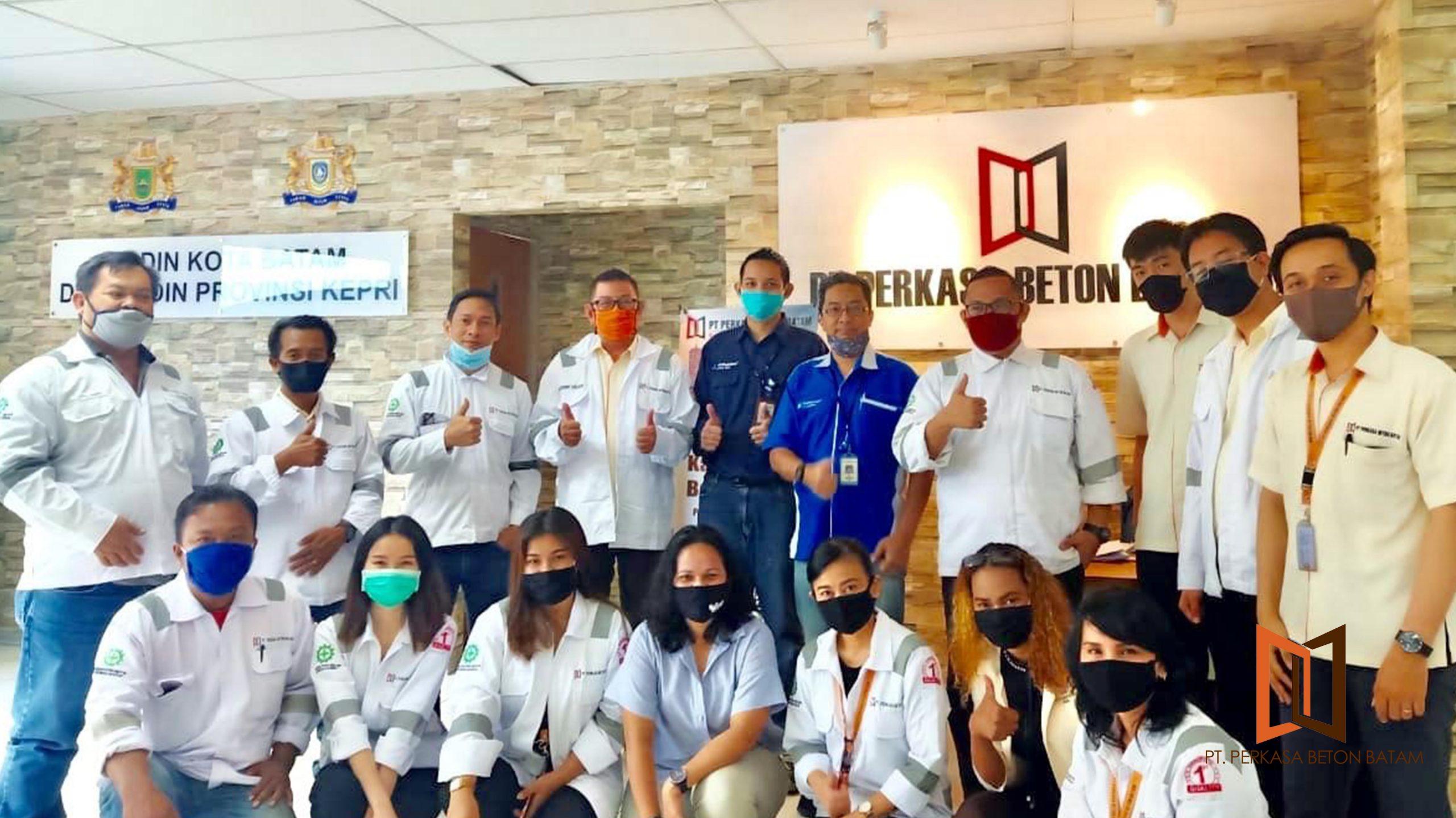 PERKASA BETON BATAM PANBIL Menerima Sertifikasi oleh TUV RHEINLAND INDONESIA